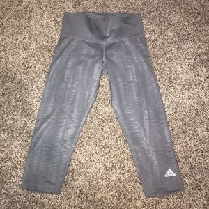Silver Adidas Cropped Leggings
